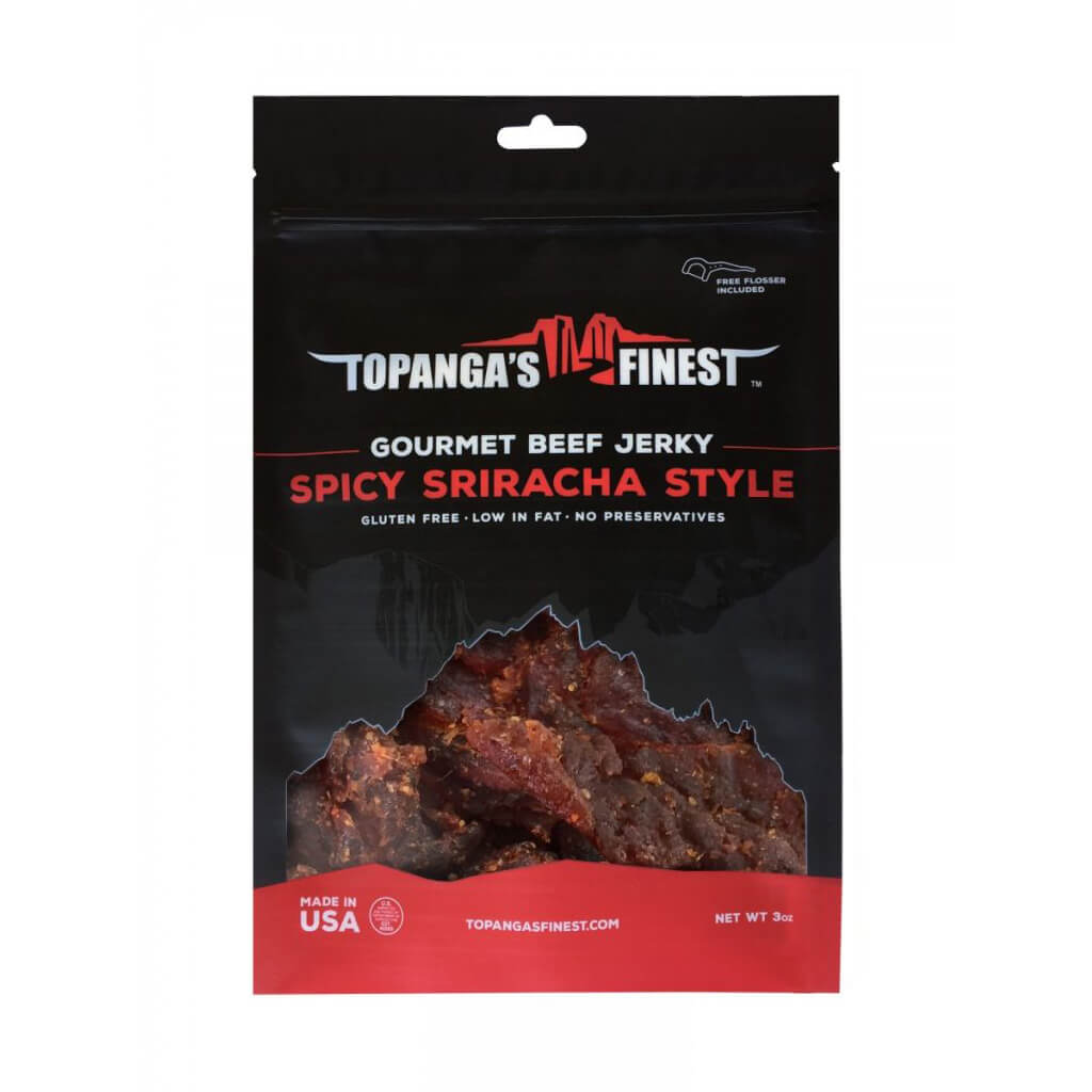 Gluten Free Spicy Sriracha Style Beef Jerky